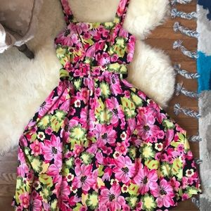 Floral Midi Pin-Up Style Dress